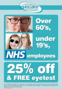 free eye test for over 60s